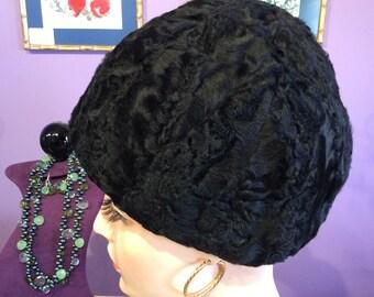 Vintage Lamb Fur Hat