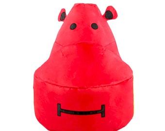 Red Hippo Kids Bean Bag Chair