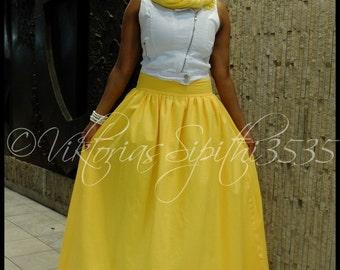 Maxi yellow skirt