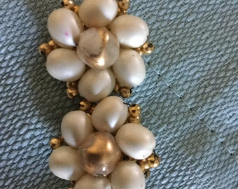 Faux pearl  clip on earrings