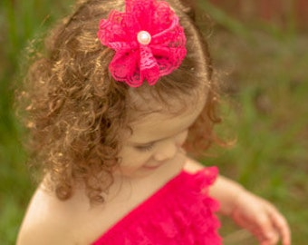 Lace Flower Clip