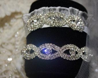 Bridal Garter Set-Wedding Keepsake and Toss Garters