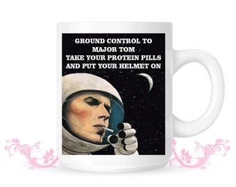 David Bowie Mug Ground Control Major Tom