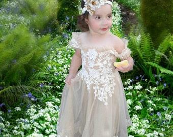 Flower girl dress, girl dress, easter dress, spring dress, first birthday dress, girl dress, toddler dress,toddler lace dress