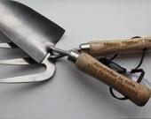 Personalised, Laser Engraved Garden Tools.