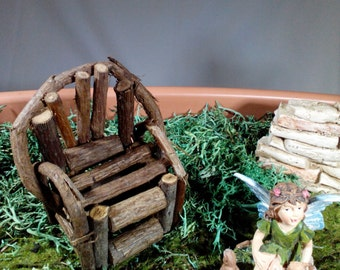 Fairy Garden Twig & Grapevine Chair, Miniature Chair for Fairy Garden or Gnome Village, Fairy Furniture, Mini Scene