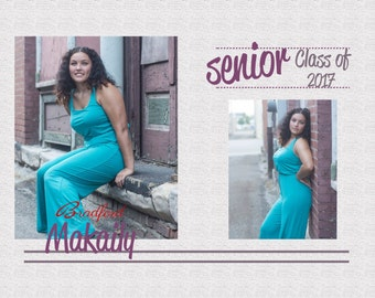 5x7 Plumtastic Senior Announcement Card