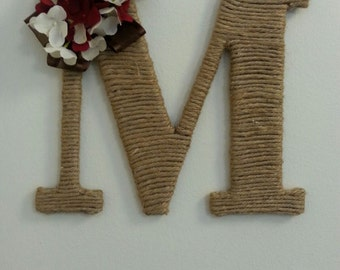 Decorative Letter with ribbon and flowers