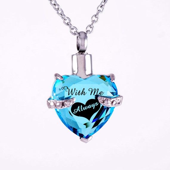 with me always laser engraved urn necklace cremation
