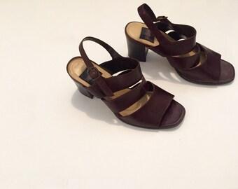 90s Stacked Heel Sandal