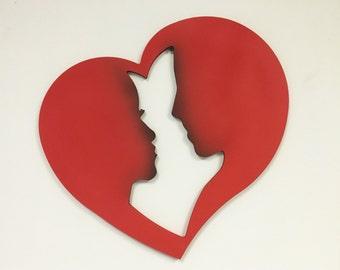 Couple Heart Wall Decor