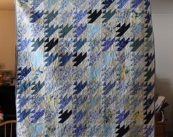Blue Lap Size Quilt