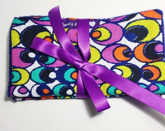Set of Two Burp Cloths // African Print Burp Cloths // Minky Fleece Burp Cloth