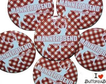 10 x JGA buttons Bachelor men men night deer Elk personalized name set party celebration husband wedding marriage