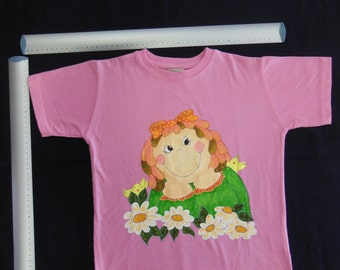Little Girl - hand painted shirt - 4yr old size