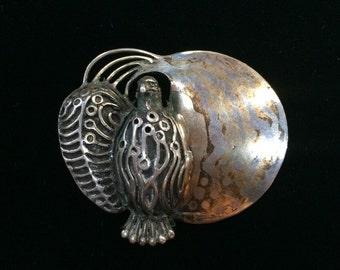 Sterling Vintage Eagle Pendant