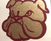 MSU Glitter Bully Face Vinyl Decal for yeti, tervis, cowbells, and more