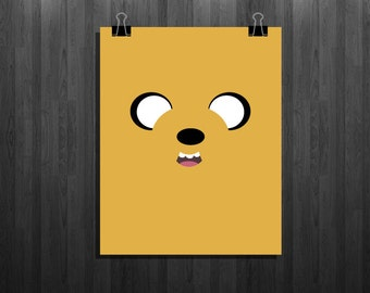 Jake the Dog (Adventure Time) Minimalist - Isntant download - Poster
