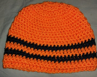 Orange & Black Beanie