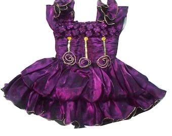 Kids Dress Indian Gift Frock Princess Dress Ethnic Wear Wedding Plum Dresses Tissue Fabric Party Wear Gown Dress 2-3 Years Kids Girl Dress