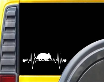 Armadillo lifeline heartbeat Decal Sticker *J554*
