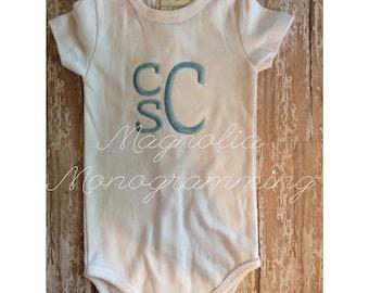 Baby Boy Monogrammed Onesie