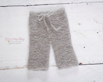 Mohair Newborn Crochet Long Pants