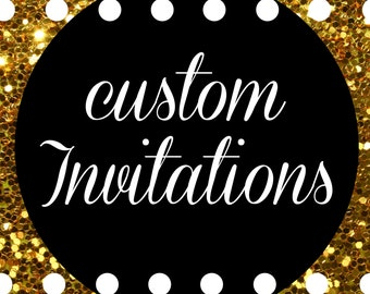 Custom Party Tickets and Invitations