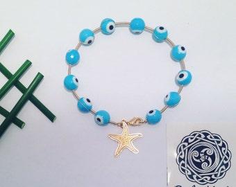 Baby Blue Evil Eye Bracelet