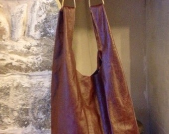 Chestnut Brown Distressesd Leather Tote
