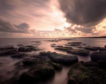 Exmouth Beach Colour, Long Exposure, Seascape, Wall Art, Home Decor, Fine Art Landscape Photography