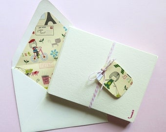 Lined Stationery - Paris Themed Note Cards - A2 - Stationery - Petite Paris