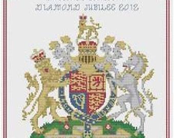 Queen's Diamond Jubilee Cross Stitch Kit by Florashell