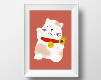 Maneki Neko Japanese/Chinese Lucky Money Cat