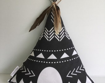 Teepee Cushion/Feathers/Children's Decor/ Nursery Decor/ Ready to ship
