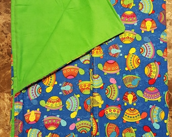 Fun turtle throw blanket