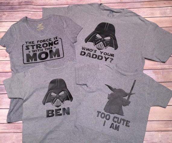 Star Wars Family Shirts Darth Shirt Princess Leia Shirt