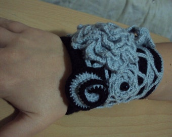 Crocheted cuff bracelet,only 1 made