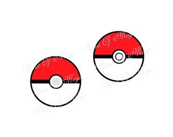 Pokemon SVG File, Pokeball SVG, Pokemon Cutting File,  Pokemon Go Silhouette, Cameo, Cricut, Pokeball Dxf file
