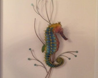 Seahorse Metal Wall Sculpture by Bovano of Cheshire