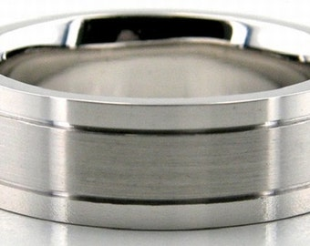 Mens 925 Sterling Silver Wedding Band Ring Sizes 4-13