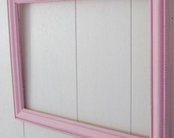 Shabby Chic Vintage Style Pink Picture Frame, Wedding Decor, Distressed