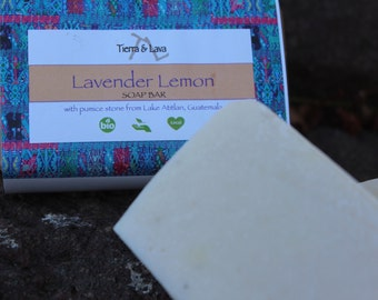 Lavender Lemon Soap Bar with Pumice Stone 4oz