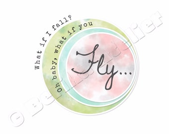 Printable Quote Art, Wall Art Print, Oh Baby-Fly, Motivational Print, Digital Download