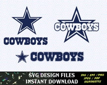 Dallas Cowboys SVG Vinyl Cutting Decal, for Mugs, T Shirts, Cars  SVG files for Silhouette Cameo Cut Files, Svg  Cutting Files. SVG  Decal