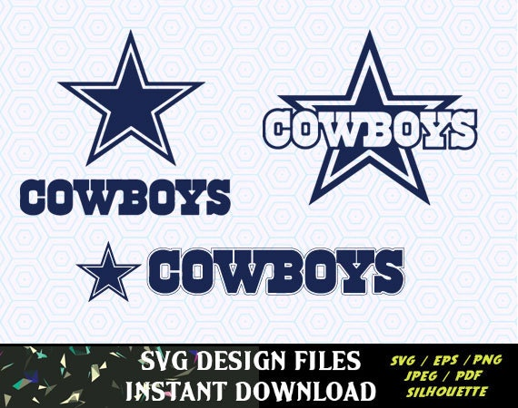 Dallas Cowboys Svg Vinyl Cutting Decal For Mugs T Shirts