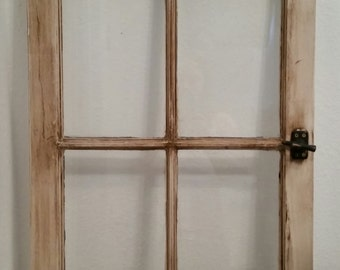 Rustic Distressed window