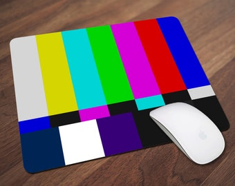 Television Color Key Mouse Pad, Retro Mouse Pad, Off Air Mouse Pad, Office Gift, Co-Worker Gift, Boss Gift, Student Gift