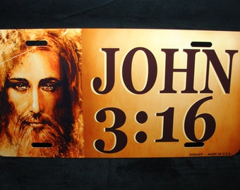 JESUS JOHN 3:16 Metal Novelty License Plate For Cars Christian RELIGIOUS
