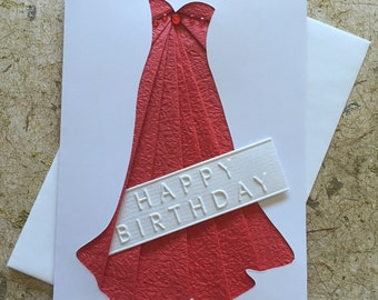 Handmade Dress Birthday card